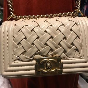 "Chanel boy limited edition small 8"" pre-owed"